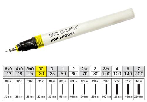 509004, Rapidiograph Technical Pen, 0