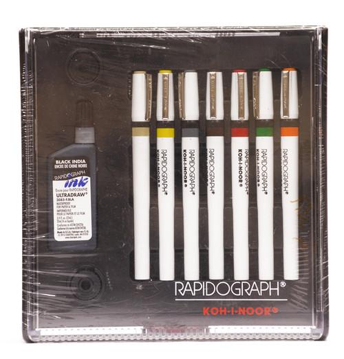 509502, Rapidiograph Technical Pen Set, 7/pens