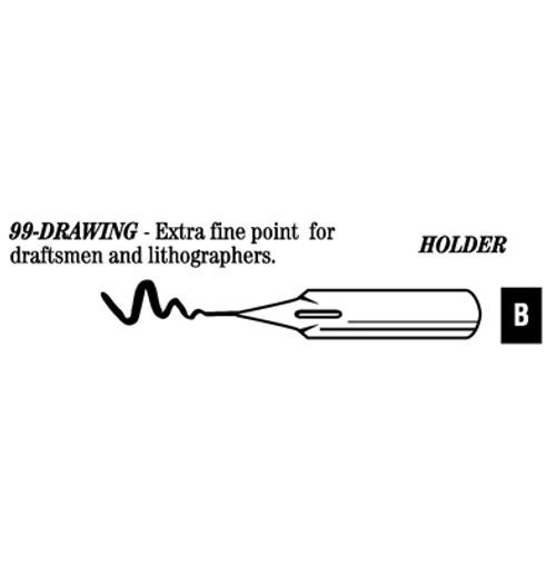528004, Hunt Artist's Pen Points, 99 - Extra Fine Draw, dozen