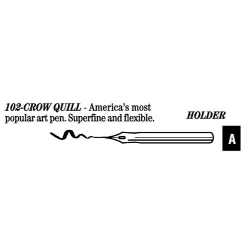 528010, Hunt Artist's Pen Points, 102 - Crow Quill, dozen