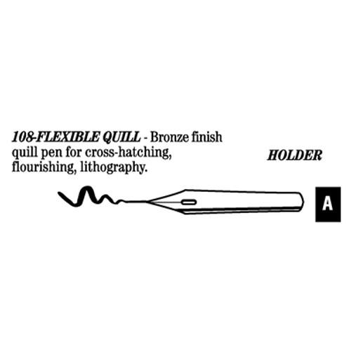 528018, Hunt Artist's Pen Points, 108 - Flex Quill, dozen