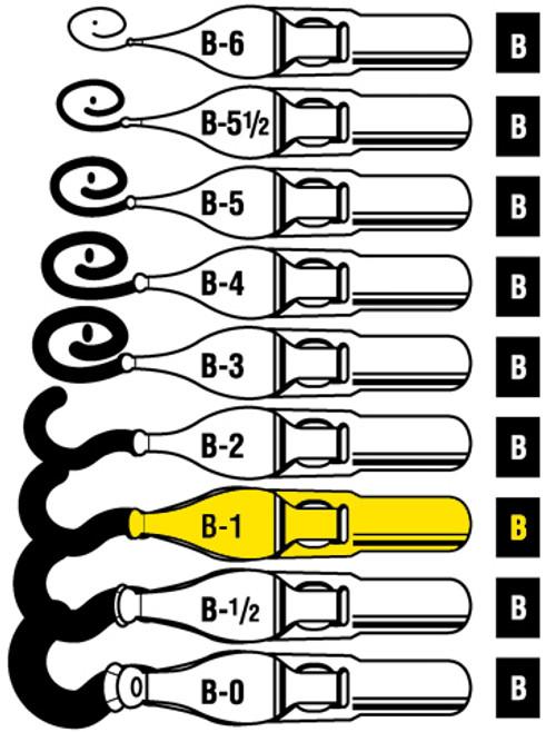 528116, Speedball Lettering & Drawing Points, B Style,  B1, dozen
