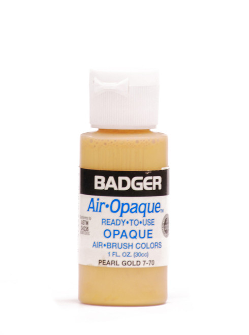 518019, Badger Air - Opaque Airbrush Colors, 1 oz.Bottle, 7-70, Pearl Gold