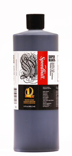 511552, Speedball Super Black India Ink, 32oz. Bottle