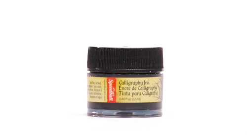 511555, Speedball Artist Pigmented Acrylic Inks, 1/2oz., Super Black