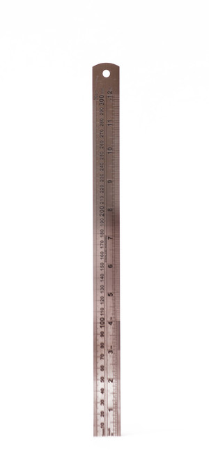 557112, Stainless Steel Rulers, 12""