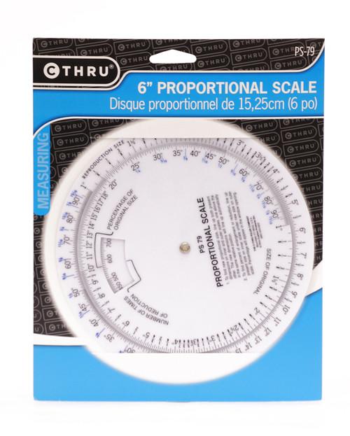 """557130, Proportional Scale, 6"""" diameter, Vinyl"""