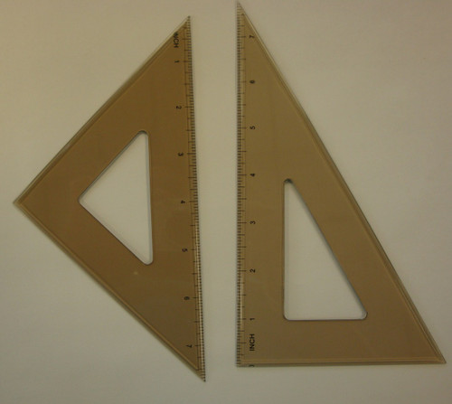 """571080, Triangle Set, .080""""Thick, Beveled Edges, 8"""" Set"""