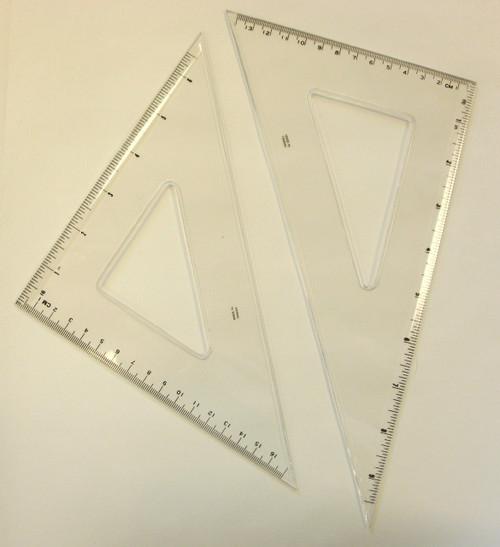 """571081, Triangle Set, .080""""Thick, Beveled Edges, 10"""" Set"""