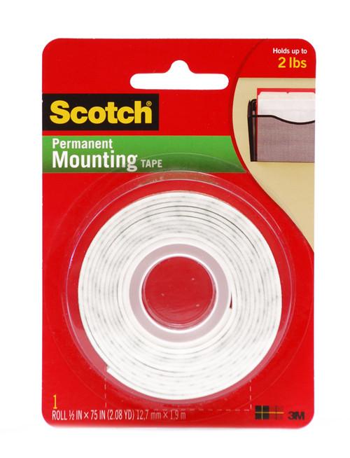 """572217, Scotch Mounting Tape, 1/2"""" x 75"""""""