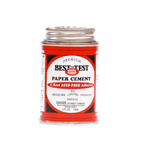 572100, Best-Test Rubber Cement, 4oz. **UNAVAILABLE AT THIS TIME