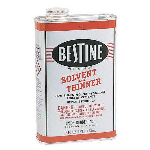 572105, Bestine Rubber Cement Thinner, 16oz.