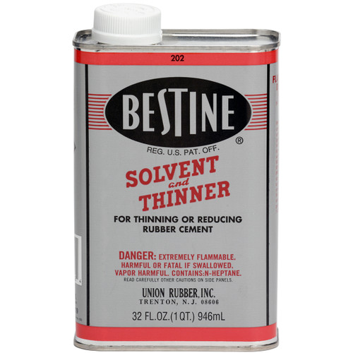 572106, Bestine Rubber Cement Thinner, 32oz.