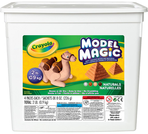 633894, Crayola Model Magic, Assorted Naturals, 2lb.