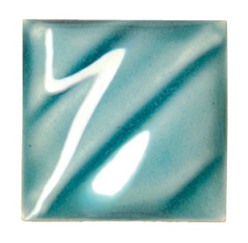 611209, Amaco Gloss Glaze , Lead Free, Cone 06-05, Pint, LG-25 CL, Turquoise Green