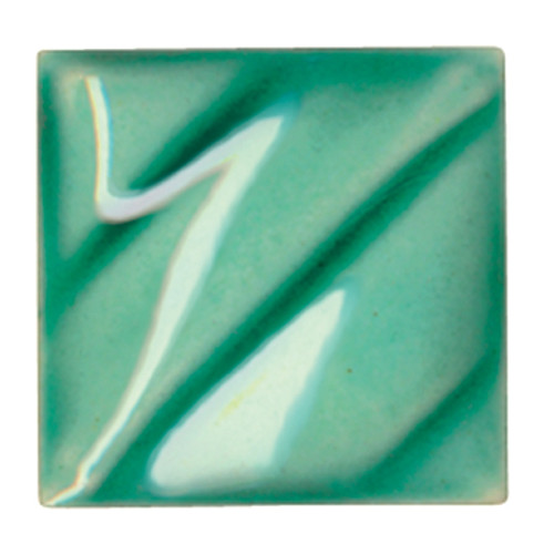 611215, Amaco Gloss Glaze , Lead Free, Cone 06-05, Pint, LG-46 CL, Leaf Green