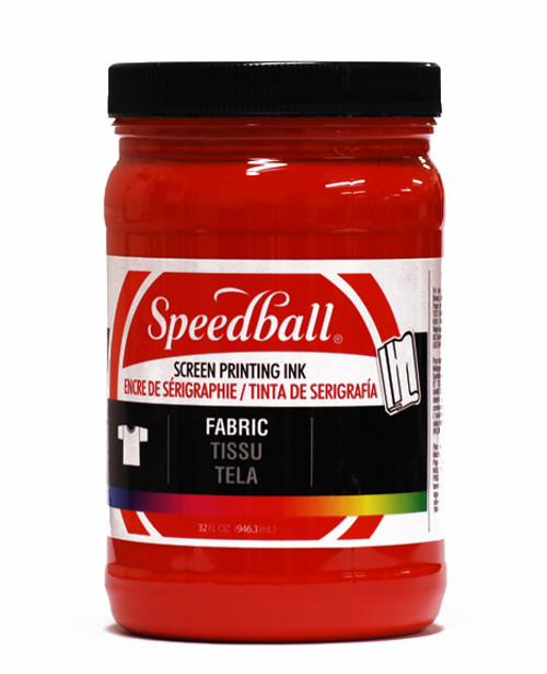 629101, Speedball  Waterbased Textile Screen Printing Ink, Red, 32oz.