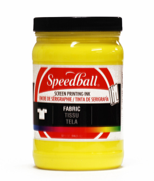 629105, Speedball  Waterbased Textile Screen Printing Ink, Yellow, 32oz.
