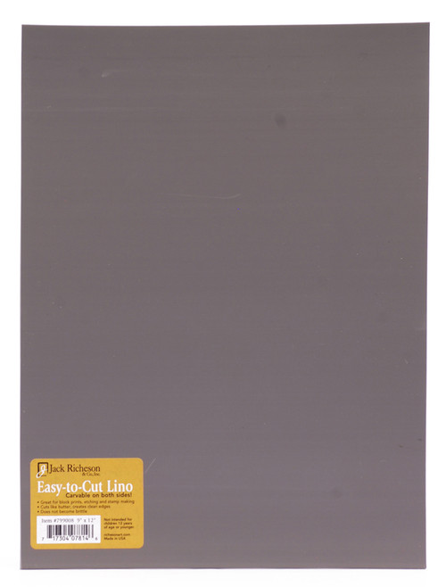 "624013, Richeson ""Easy to Cut"" Linoleum,Unmounted Blocks, 9""x12"""