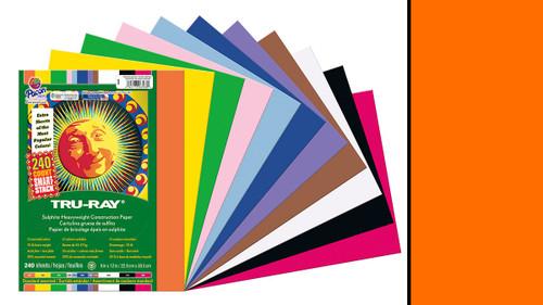 "342139, Tru-ray Construction Paper, Orange, 9""x12"" 50 sheets"