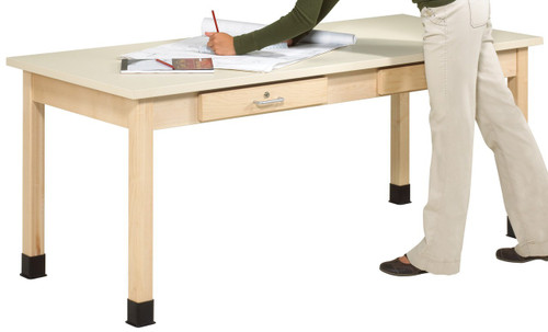 """701102, Art Planning Table, 1-3/4"""" Maple, 72""""Wx30""""Dx32""""H"""