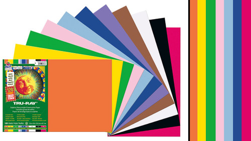"342160, Tru-ray Construction Paper, Assorted, 12""x18"" 50 sheets"