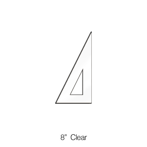 """571008, Triangle 30/60degree, Clear, 8"""""""
