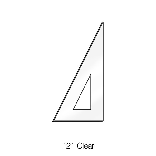 """571012, Triangle 30/60degree, Clear, 12"""""""