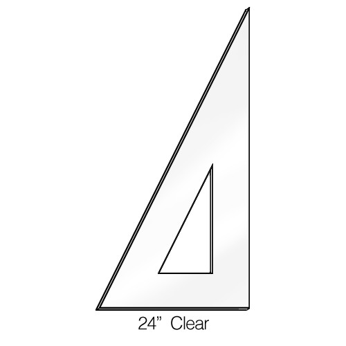 """571024, Triangle 30/60degree, Clear, 24"""""""