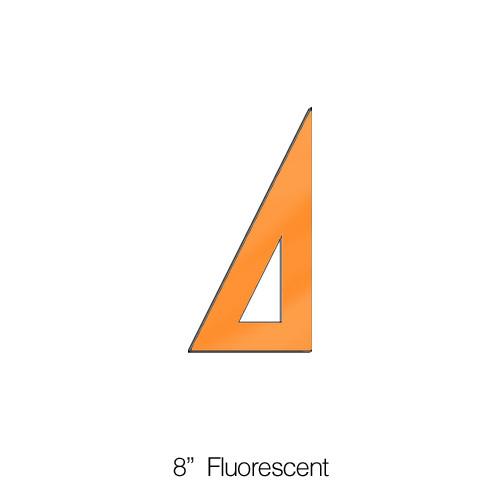 """572008, Triangle 30/60degree, Fluorescent, 8"""""""