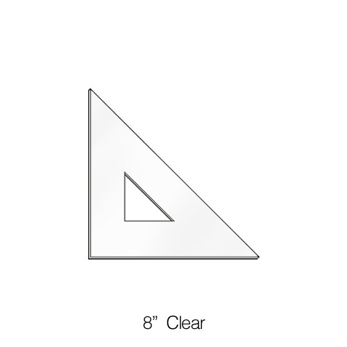 """575008, Triangle 45degree, Clear, 8"""""""