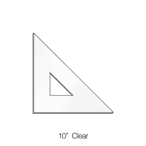 """575010, Triangle 45degree, Clear, 10"""""""