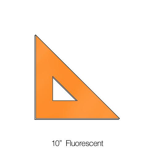 """576010, Triangle 45degree, Fluorescent, 10"""""""