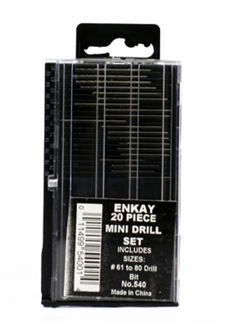 573041, Mini Drill Set 20pcs (sizes 61-80)