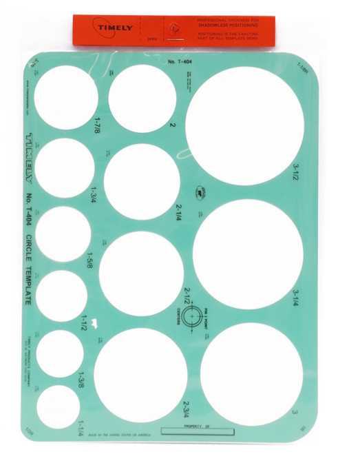 605069, Large Perfect Circle Template T404