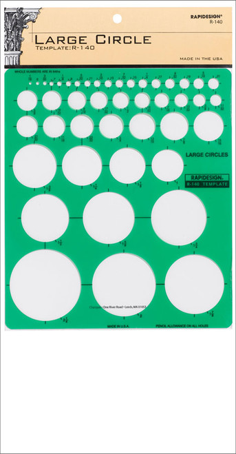 605078, Large Circles Template R140