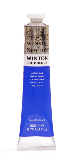 372681, Winton Oil Colour, Cobalt Blue, 200ml.