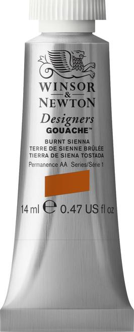 373388, Designers Gouache  14ml tube - Burnt Sienna