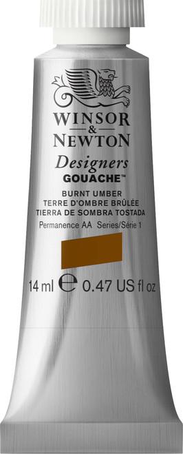 373389, Designers Gouache  14ml tube - Burnt Umber