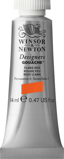 373401, Designers Gouache  14ml tube - Flame Red