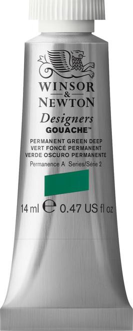 373432, Designers Gouache  14ml tube - Permanent Green Deep