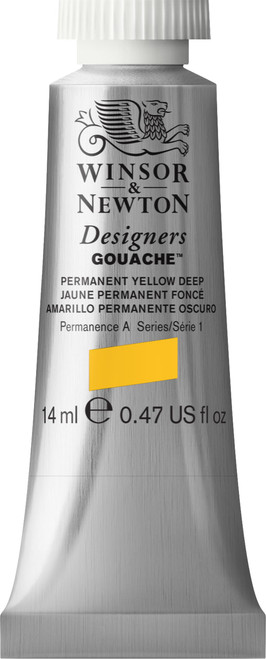 373436, Designers Gouache  14ml tube - Permanent Yellow Deep