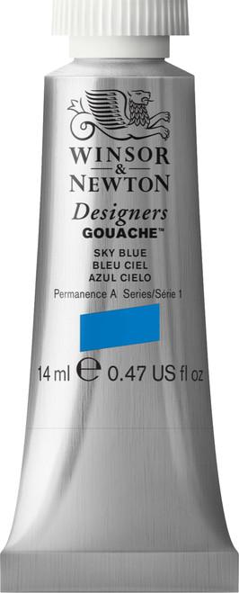373454, Designers Gouache   14ml tube - Sky Blue