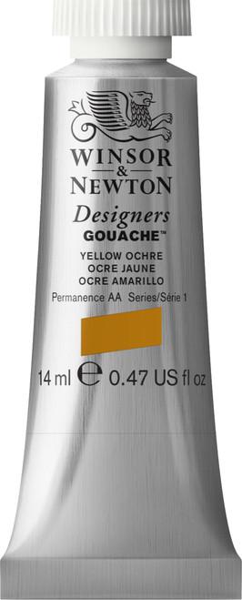 373468, Designers Gouache   14ml tube - Yellow Ochre