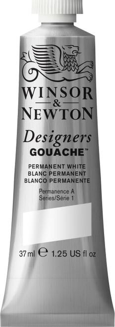 373470, Designers Gouache   37ml tube - Permanent White