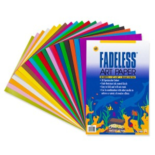 "341720, Fadeless Art Paper, Assorted, 12"" x 18"", 60/sheets"