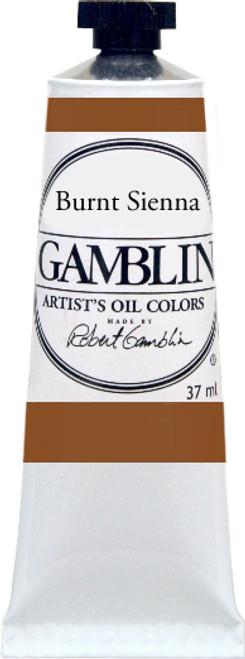 376154, Gamblin Artists Oil, Burnt Sienna, 37ml