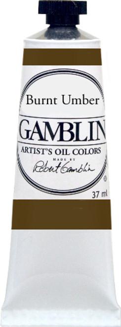 376155, Gamblin Artists Oil, Burnt Umber, 37ml