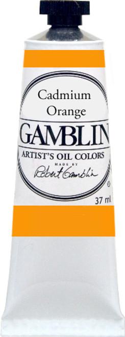 376157, Gamblin Artists Oil, Cadmium Orange, 37ml