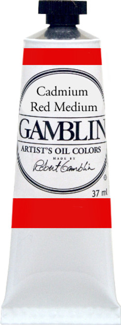 376160, Gamblin Artists Oil, Cadmium Red Medium, 37ml